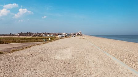 The wide open beach at Aldeburgh is largely free of people Picture: TIM DAY