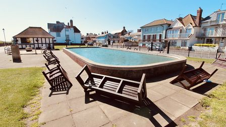 The empty boat pond near the sea front Picture: TIM DAY