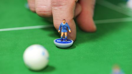 A Subbuteo game in action Picture: ARCHANT