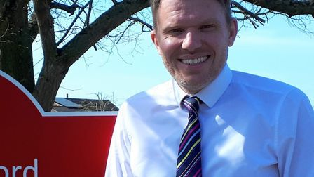 Matt Vale-Smith, assistant headteacher at Long Melford Primary School, is filming daily lessons live