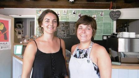 Beth Cook and Hannah Huntly who run Applaud Coffee said the grant had been vital for covering their