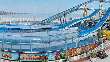 First look at the new log flume coming to Clacton Pier. Picture: CLACTON PIER