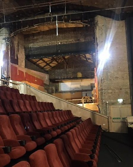 The new auditorium at the Abbeygate cinema in Hatter Street is in the works. Picture: CHRIS PETERS