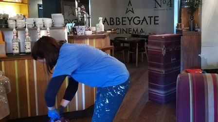 The NO.4 Restaurant and Bar at the Abbeygate cinema is getting a makeover during the lockdown. Pictu