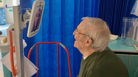 Patients at hospitals across Sufflk and north Essex are being encouraged to stay in touch with loved