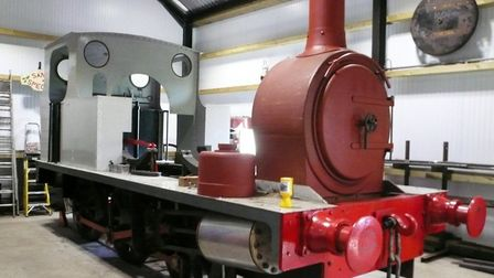 The Middy's own locomotive is being restored. Picture: MID SUFFOLK LIGHT RAILWAY