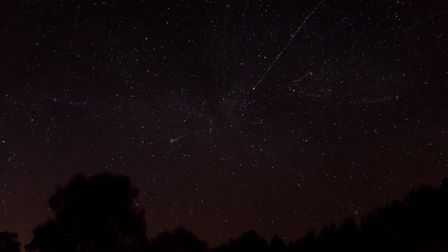 Richard Mitchell captured this shot of the sky, with the Starlink trail over Hadleigh on Monday, Apr