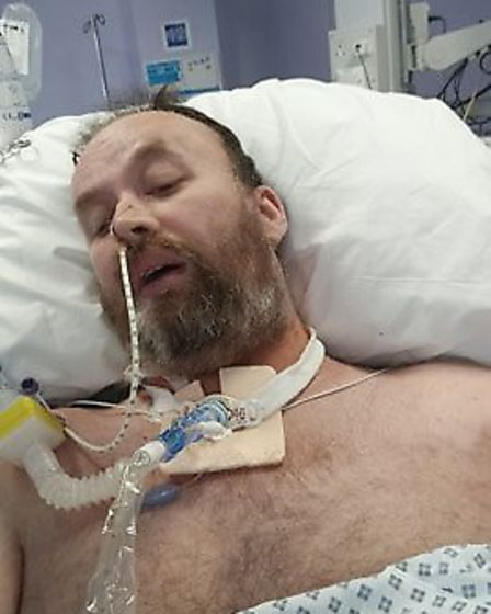 Jason Mageehan was in intensive care at Colchester Hospital for almost a month receiving treatment f