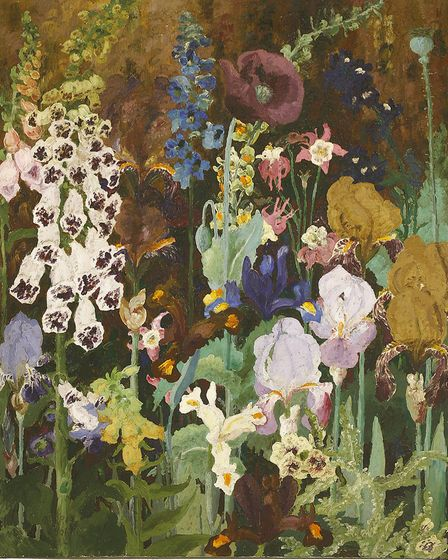 The rediscovered 'Foxgloves' by Sir Cedric Morris, which is being sold at auction Picture: SWORDERS