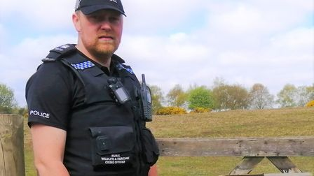 PC Kevin Stollery works for the Rural Crimes Team based in Halesworth and is concerned about targete