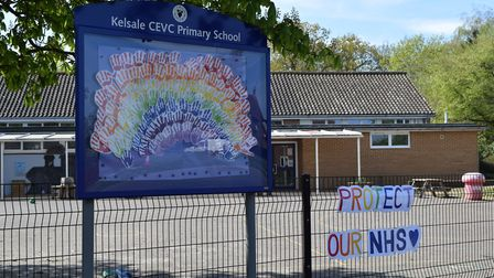 Key worker and vulnerable children who are currently in Kelsale Primary School have made a huge rain