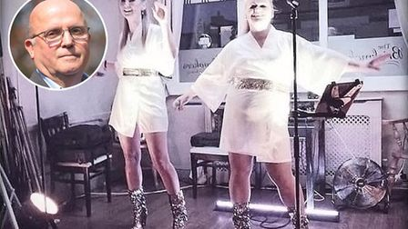 Abba tribute duo Shazam will perform a livestreamed gig in tribute to Dr Fayez Ayache, inset Picture