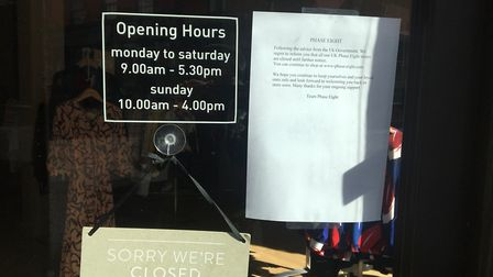 A clothing store closed up because of the crisis Picture: SARAH CHAMBERS