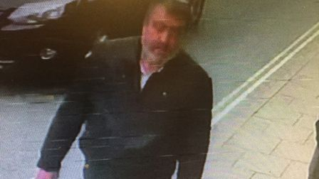 Officers want to speak to this man in connection with a racially aggravated assault at Hadleigh Fast