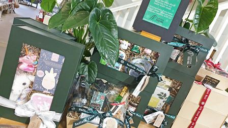 Some of the hampers on offer at the Suffolk Foodhall Picture: HAMPER TEAM AT SUFFOLK FOODHALL