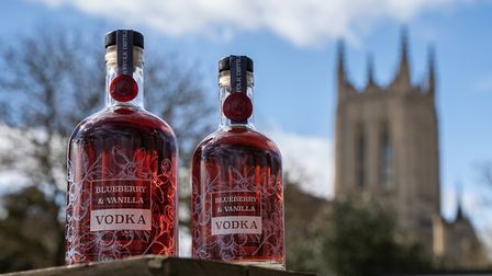 Blueberry and vanilla vodka from The Suffolk Distillery Picture: OLI CUTMORE MEDIA