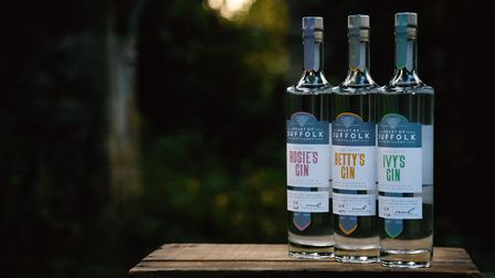 Some of the gins on offer from Heart of Suffolk Distillery Picture: Allegro Creative Agency/The Occa