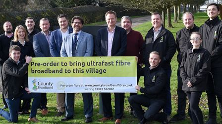 County Broadband launched its roll-out of hyper-fast full-fibre broadband to villages in north Essex