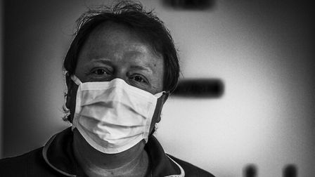 The photos, taken by NHS worker Colin Gray, show the faces of those fighting coronavirus on Lavenham