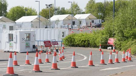 The drive-through testing centre near the Copdock interchange in Ipswich has tested more than 3,000