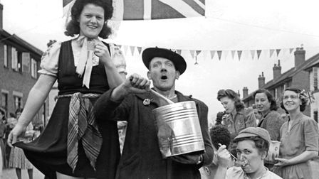 People came together to celebrate VE Day in Stowmarket in 1945, but things will be different this ye