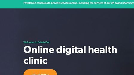 Screenshot from PrivateDoc's website Picture: PRIVATEDOC