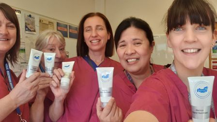 The Herrco team have delivered free supplies of hand sanitiser to NHS staff