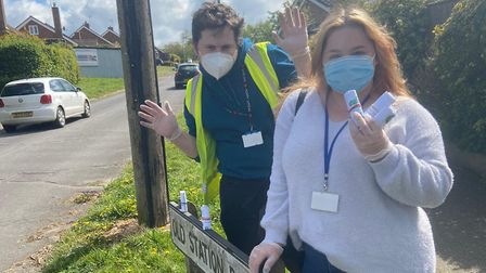 This weekend, the Herrco team hand-delivered bottles of hand sanitiser to Halesworth residents