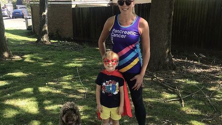 Hugo Ecclestone was inspired by his mum Lucy Broughton, who had been training to run the London Mara