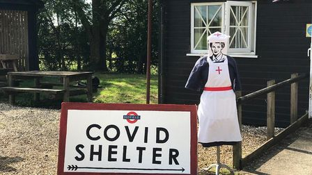 Bedfield residents have been decoarting their village Picture: VAL ROZIER