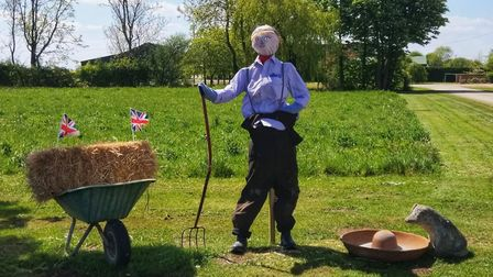 Union Jacks featured prominently with scarecrows Picture: DEBBIE PRITCHARD