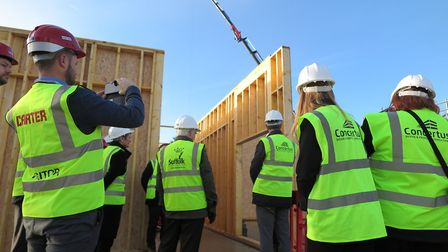 Construction work at the new Sir Bobby Robson School in Ipswich had to be temporarily halted when th