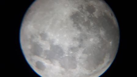 Andy Wade managed to get this photo using a telescope and his smartphone Picture: ANDY WADE