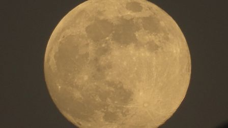 These pictures were taken in Henley Avenue in Ipswich as the Flower Moon rose over Suffolk Picture: