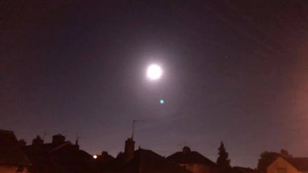 The bright supermoon was visible across Suffolk Picture: TERENCE OVENALL