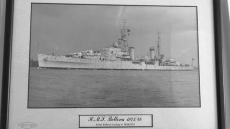 Mr Gosling served on the HMS Bellona during the convoys after joining the war aged 17 in 1943 Pictu