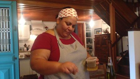 This is the Greek lady who taught Hannah how to make Greek food on the island of Evia Picture: HANNA