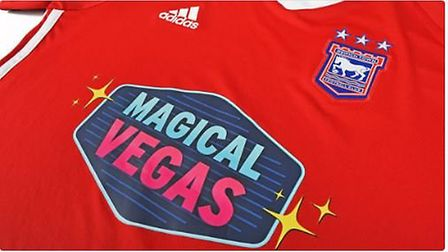 Ipswich Town shirts have carried the 'Magical Vegas' sponsorship since January 2018. Picture: ITFC