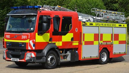 Suffolk Fire and Rescue are attending a huge fire on the county border this afternoon Picture: SUFFO