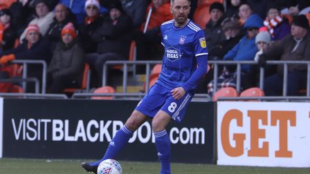 Cole Skuse is one of Town's first team players out of contract on June 30l Photo: ROSS HALLS