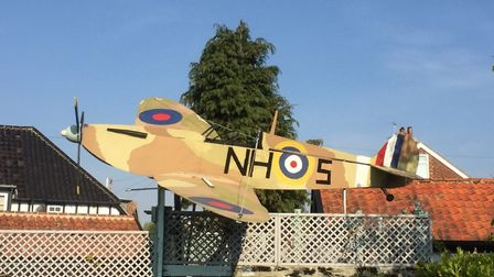 A model of a Spitfire made to celebrate the life of Ray Hanna had its call sign changed to reflect t