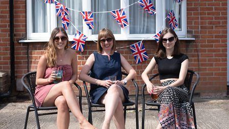 Residents of Brunswick road celebrated VE Day in style with a social distance street party. Molly,