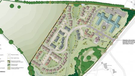 The plans for the 'care village' in Melton, near Woodbridge, have been met with a mixed reaction Pic