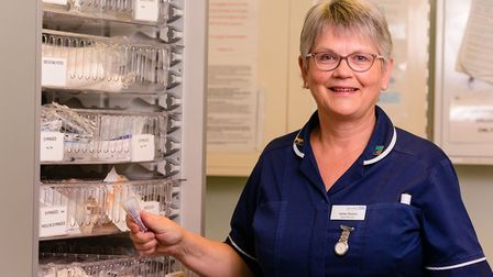 Helen Ballam, ward manager at Newmarket Community Hospital. Picture: WEST SUFFOLK HOSPITAL NHS FOUND