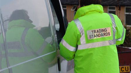 Suffolk Trading Standards officers carrying out checks. Picture: SUFFOLK TRADING STANDARDS