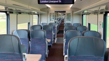 Greater Anglia have been running near-empty trains during the lockdown. Picture: Nathan Long/Greater