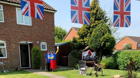 David Gant walked 75 laps of his garden in Old Newton, Stowmarket, to raise money on VE day. Picture