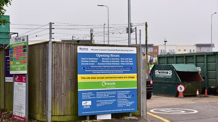 Suffolk County Council have reopened their recycling centres by appointment only Picture: SARAH LUCY