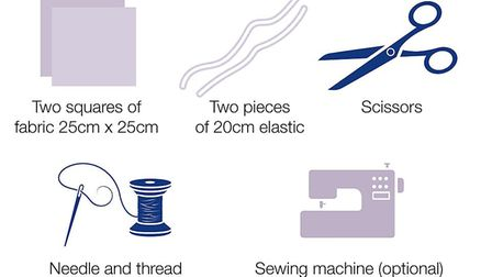 You can also make a sewn cloth face covering with these items. Picture: GOV.UK