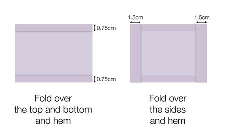 You will need to make two channels by folding the double layer of fabric. Picture: GOV.UK